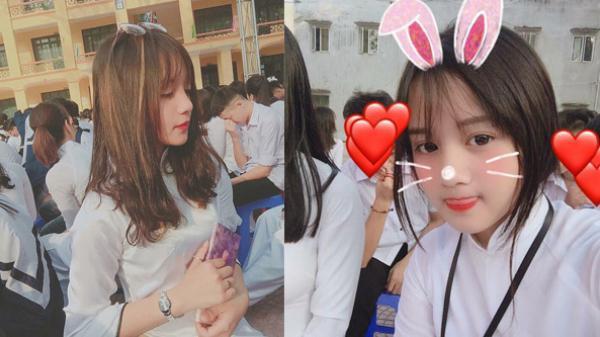 Nữ sinh lai Việt - Trung ở Hưng Yên diện áo dài vẫn 'gây sóng gió' vì góc nghiêng quá xinh đẹp