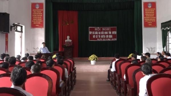 Đại biểu HĐND tỉnh Hưng Yên tiếp xúc với cử tri huyện Kim Động