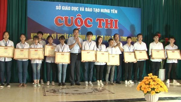 33 đề tài đoạt giải cuộc thi khoa học kỹ thuật cho học sinh trung học tỉnh Hưng Yên
