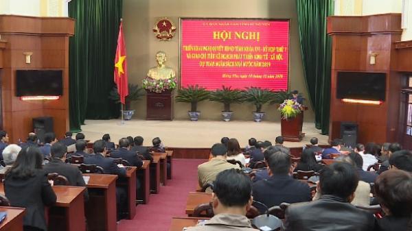 Hưng Yên giao chỉ tiêu phát triển KTXH và ngân sách năm 2019 cho các sở ngành, địa phương