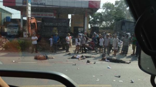 Hưng Yên: Bị cuốn vào gầm xe tải, 3 người tử vong tại chỗ