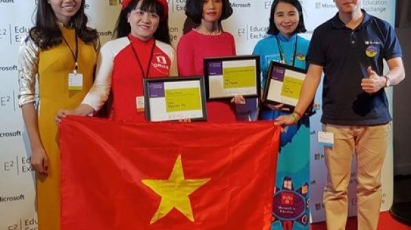 """4 cô giáo Việt Nam đoạt giải thưởng cao nhất ở cuộc thi """"Giáo viên sáng tạo trên nền tảng công nghệ thông tin"""""""