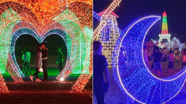 Lần đầu tiên tại Khoái Châu (Hưng Yên): Tưng bừng Lễ hội trình chiếu ánh sáng với hàng triệu bóng đèn Led