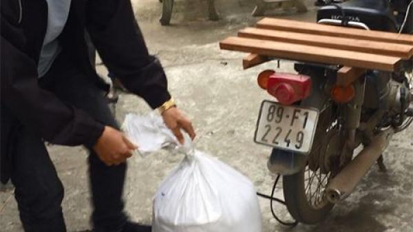 Bắt được đối tượng quê Hưng Yên cất giấu ma túy trong bao tải gạo