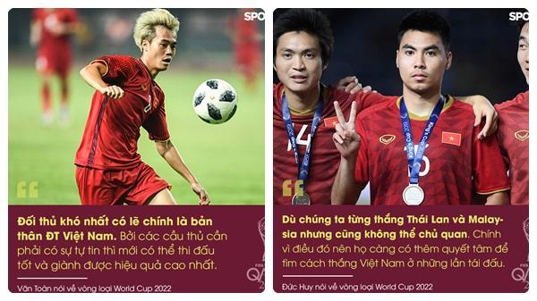 Tuyển thủ Việt Nam nói về vòng loại World Cup: Đức Huy thận trọng, Quế Ngọc Hải tuyên bố đối thủ nào cũng như nhau