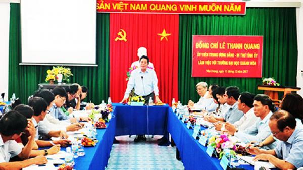 Lãnh đạo tỉnh làm việc với Trường Đại học Khánh Hòa