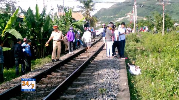 Băng qua đường sắt, bị tàu cán, một người đàn ông ở Nha Trang tử vong