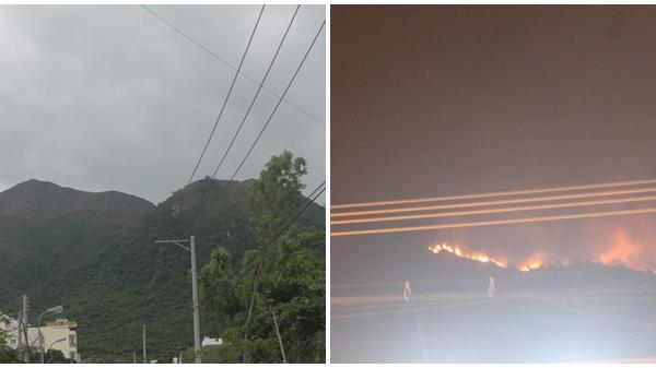 Khánh Hòa: Cháy hàng giờ trong đêm, núi Cô Tiên bị thiêu rụi với diện tích lớn