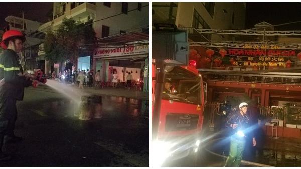 Nha Trang: Nhà hàng cháy lớn do bình ga phát nổ khiến 2 người bị thương