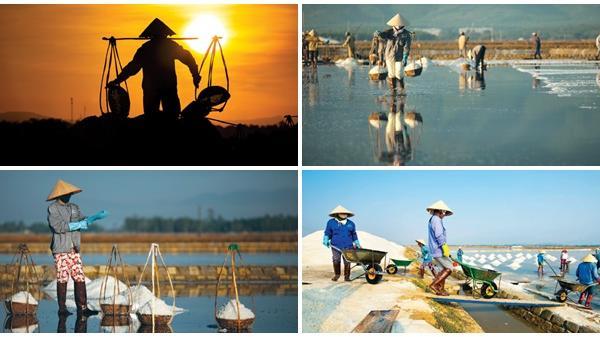 """Chùm ảnh: """"Gánh quà của biển"""" từ đồng muối Hòn Khói - Khánh Hòa"""