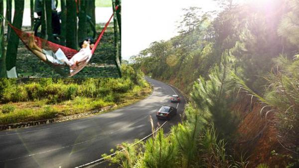 VIDEO: NGUY HIỂM cung đường đèo Khánh Lê và việc làm kỳ lạ của người đàn ông mắc võng giữa lưng đèo