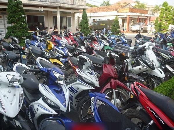 Đấu giá lô xe mô tô 2 bánh đã qua sử dụng tại Khánh Hòa