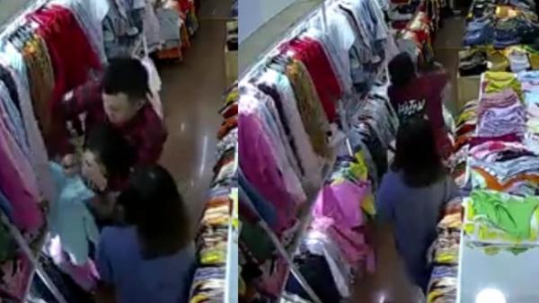 Rùng mình cảnh tượng đôi nam nữ táo tợn xông vào shop quần áo cố sát nữ nhân viên