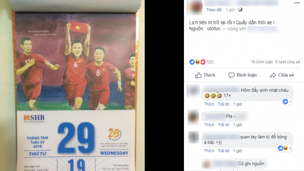 Cộng đồng mạng sục sôi tờ lịch 'tiên tri' chiến thắng của Olympic Việt Nam trong trận bán kết gặp Olympic Hàn Quốc