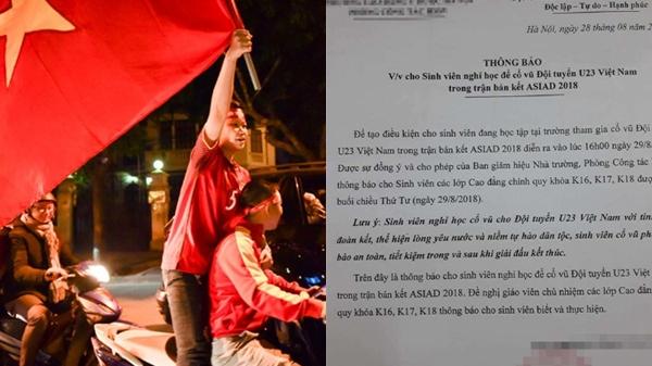 Công ty cho nghỉ làm, trường học thông báo nghỉ học xem Olympic Việt Nam: Để dành sức còn cổ vũ chung kết!