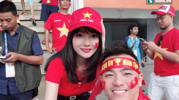 Danh tính bất ngờ của nữ CĐV Việt được các đài truyền hình Hàn Quốc săn đón