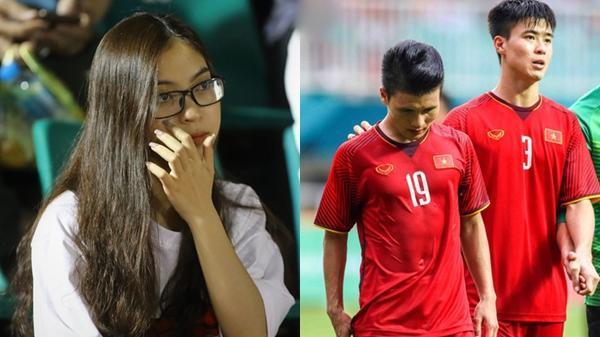 """Bị NHM chửi, bạn gái Quang Hải xót người yêu viết cực gắt: """"Không nói được tử tế thì im lặng"""""""