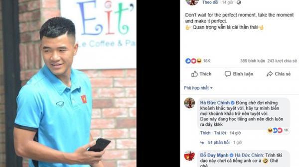 Cứ tưởng đăng status tiếng Anh được nhiều like, cuối cùng ai cũng nghĩ Đức Chinh đang... bị hack Facebook