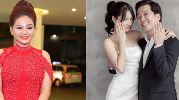 Đi đám cưới Trường Giang, Lê Giang dùng hết vốn liếng chúc mừng bằng tiếng Anh khiến dàn sao ngã ngửa