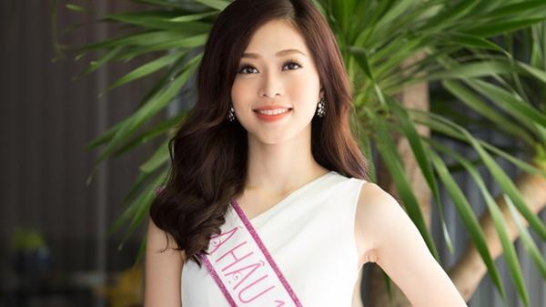 Á hậu Phương Nga 'bắn' tiếng Anh trôi chảy, chào sân Miss Grand International
