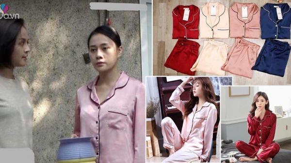 Sau chiếc áo trễ vai cực hot, Quỳnh búp bê tiếp tục tạo cơn sốt pijama lụa mặc nhà