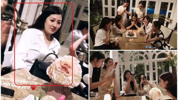 Hội chị em hoa hậu tổ chức sinh nhật cho Mỹ Linh nhưng Á hậu Tú Anh lại gây chú ý hơn cả
