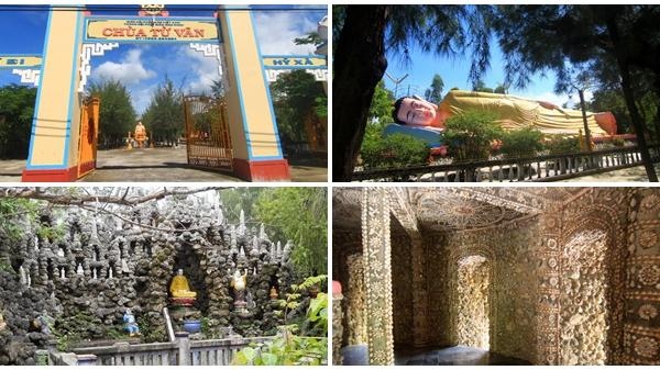 Ngôi chùa độc đáo làm từ vỏ ốc ở Cam Ranh