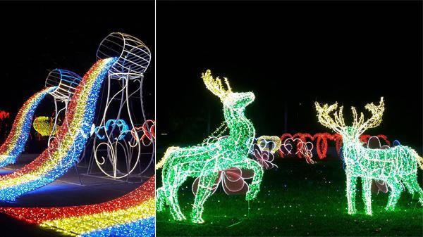 Hé lộ những hình ảnh siêu chất trước giờ G tại Lễ hội ánh sáng biển gọi Nha Trang với hàng triệu bóng đèn LED