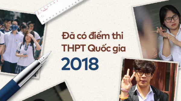 HOT: ĐIỂM THI THPT QUỐC GIA 2018 TẤT CẢ CÁC TỈNH THÀNH