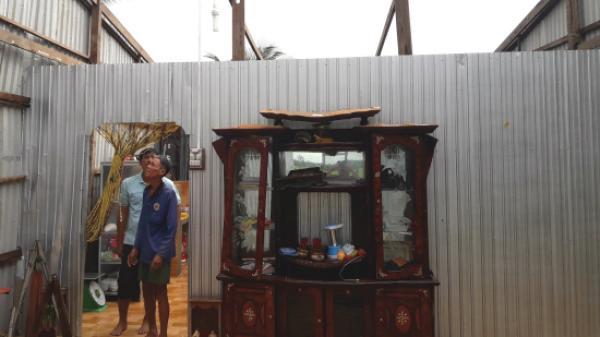 Kiên Giang: Giúp dân khắc phục hậu quả lốc xoáy