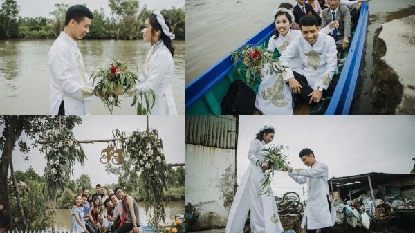 Độc đáo và thân thuộc với bộ ảnh đám cưới đậm chất miền Tây sông nước