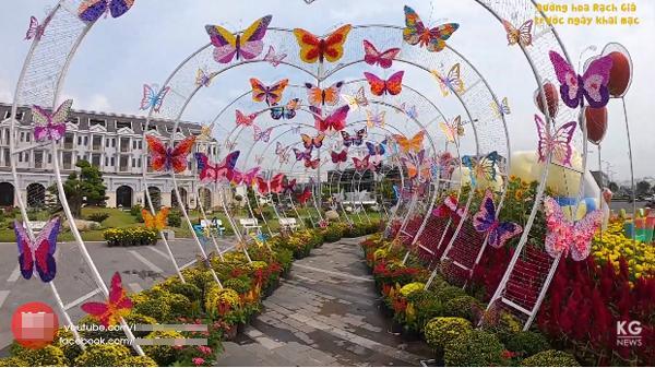 HOT: Cận cảnh đường hoa Xuân Rạch Giá trước ngày khai mạc, đẹp và hoành tráng nhất từ trước tới nay