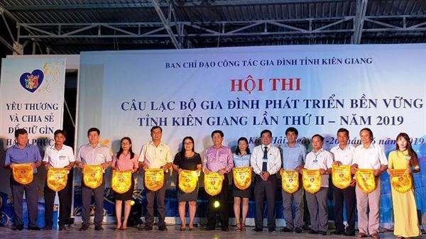 """Kiên Giang tổ chức Hội thi Câu lạc bộ """"Gia đình phát triển bền vững"""""""