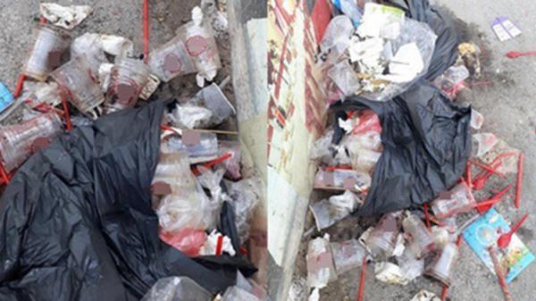 Xôn xao hình ảnh 'núi' cốc nhựa thải ra trong buổi sáng của chuỗi cà phê 300 cửa hàng nổi tiếng ở Sài Gòn