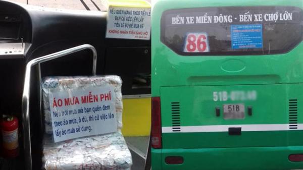 Chuyến xe buýt tặng áo mưa miễn phí cho hành khách của người tài xế tốt bụng ở Sài Gòn