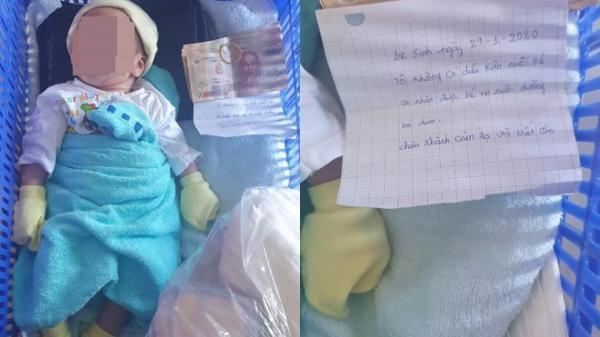 """Kiên Giang: Bé s.ơ sinh bị b.ỏ rơ.i ngoài đường kèm theo mẩu giấy: """"Ai nhặt được xin hãy nuôi dưỡng bé"""""""
