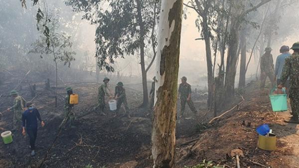 Kiên Giang: Hơn 50 cán bộ, chiến sĩ tham gia chữa chá.y rừng tràm