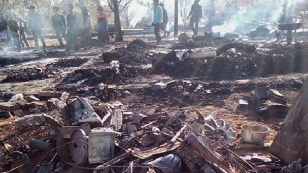 Kon Tum: Sử dụng gas bất cẩn cháy rụi mất nhà