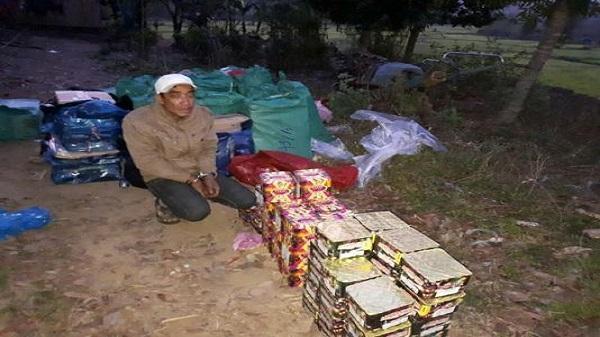 Kon Tum:  Tuần tra đêm, phát hiện hơn 500kg pháo
