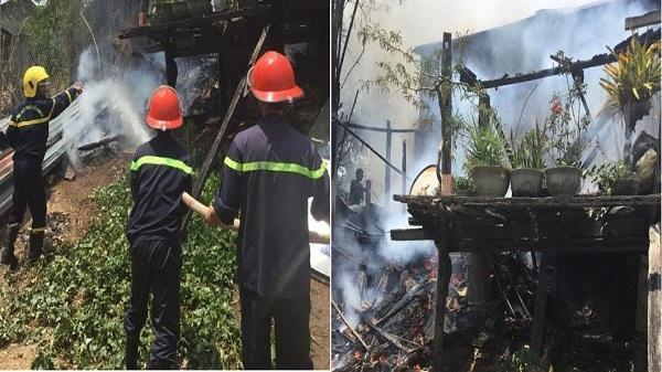 Kon Tum: Cháy nhà tại phường Thống Nhất thiêu rụi hết nhiều vật dụng