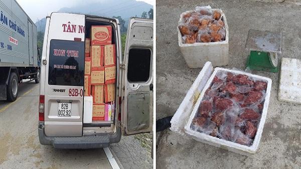 Kon Tum:  Phát hiện xe vận chuyển 100kg chân giò heo không rõ nguồn gốc