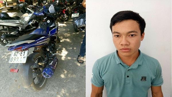 Kon Tum: Phát hiện, thu hồi 01 xe mô tô bị mất trộm