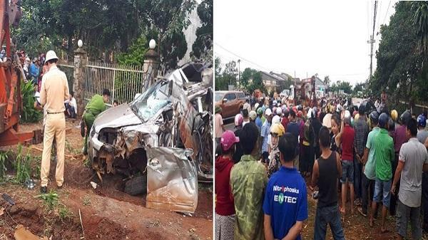 Đắk Nông: Xe tải đâm ô tô 7 chỗ bẹp dúm, 1 người thiệt mạng 5 người bị thương