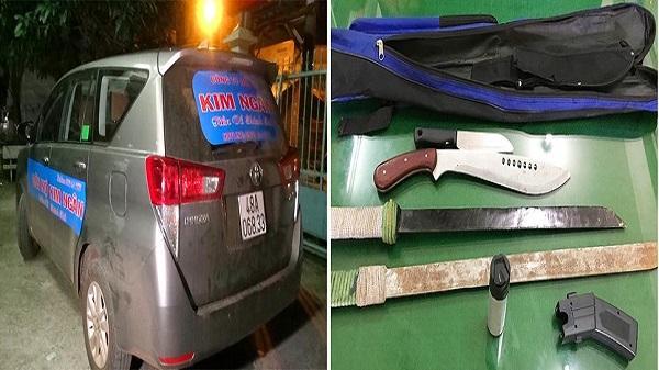 Bắt giám đốc và nhân viên Công ty đòi nợ ở Đắk Nông chở hung khí trên xe