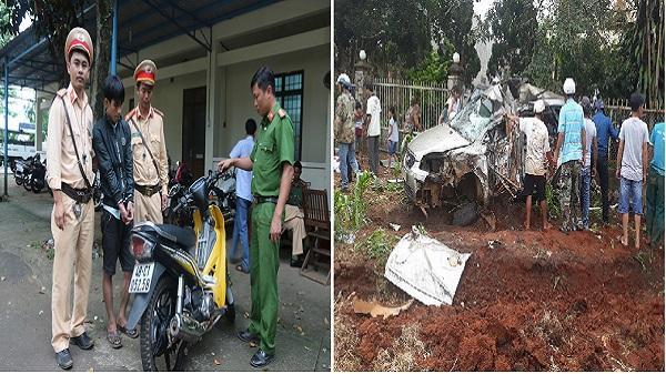 Đắk Nông: Bắt giữ một vụ trộm cắp xe máy và tài xế xe đầu kéo gây tai nạn rồi bỏ chạy