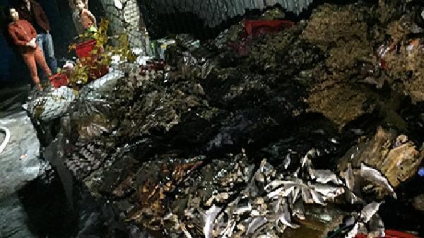 Kịp thời dập tắt một vụ cháy ki ốt ở Ngọc Hồi