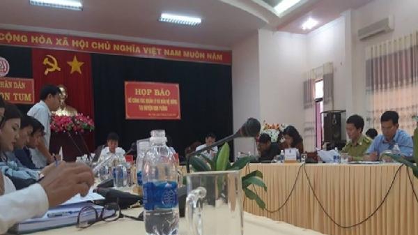 Kon Tum thông tin về vụ phá rừng tại huyện Kon Plông