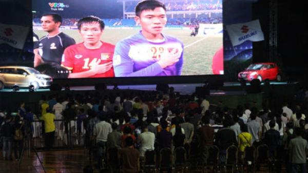TIN VUI: Lắp màn hình LED cỡ lớn tại tòa nhà VNPT Lai Châu phục vụ CĐV xem trận chung kết AFF Cup 2018
