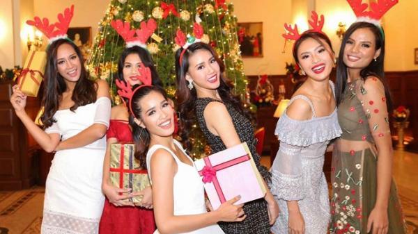 Thí sinh Hoa hậu Hoàn vũ Việt Nam lung linh mừng Giáng sinh tại Đà Lạt