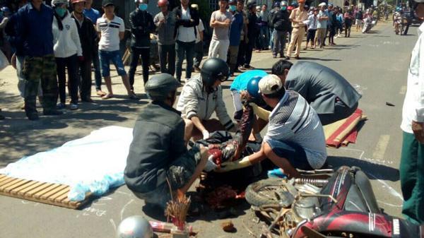 Lâm Đồng: Xe máy vượt ẩu, 1 người bị xe chở bauxite cán tử vong tại chỗ
